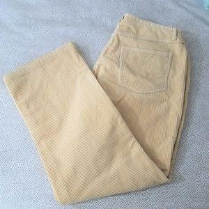 SIGRID OLSEN Buttery Yellow Coduroy Pants